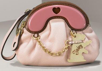 Juicy couture pink scottie bag clutch wristlet dog pet themed fashion accessories
