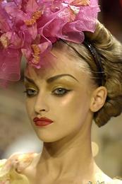 runway fashion accessories flower cocktail Hat john galliano