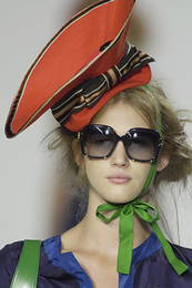 Runway fashion accessories cocktail Hat marc by marc jacobs