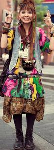 Japanese funky street urchin fashion style
