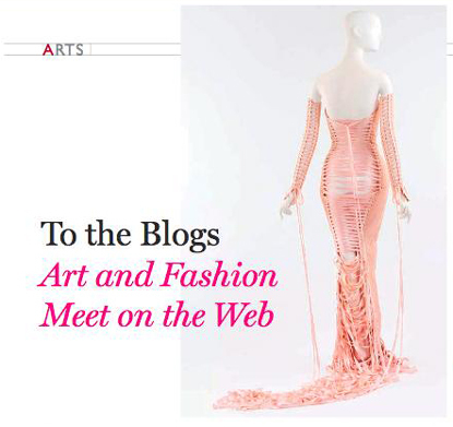 Pink Jean Paul Gaultier gown influence of blogs blogging on fashion