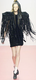 gareth pugh fringe black runway jacket
