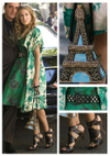 Sex and the city movie vintage green floral dress get the look