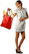Tomato red orange handmade leather tote bag shopper fashion accessories