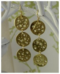 Eco jewelry Jewellery handmade gold earrings