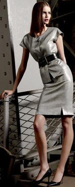 Gray grey pencil skirt dress