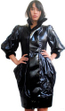 Bend Sport Couture French Black Shiny Stylish Chic puffer coat Jacket