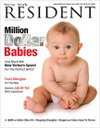New York Resident magazine cover babies