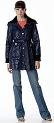 Stylish dark blue navy marc by marc jacobs designer puffer coat jacket