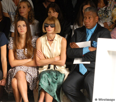 Fashion show front row bored editors Anna Winour Andre Leon Tally Bee Schaeffer