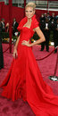 Heidi klum red john galliano gown dress oscars red carpet