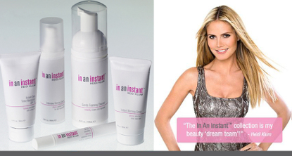 Heidi klum skincare in an instant beauty