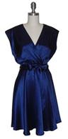 Eco chic navy silk dress