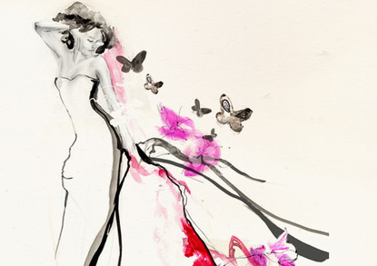 Erin petson whimsical glamorous fashion illustration