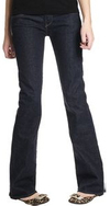 Eco chic earth friendly organic cotton Loomstate Karma dark wash denim jeans