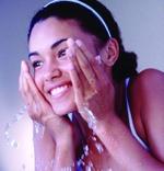 washing face gorgeous skin