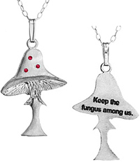 Eco chic earth friendly fair trade jewelry jewellery mushroom pendant