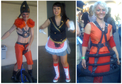 Repurposed recycled fashion from the Maker Faire
