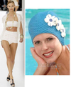 Glamorous_retro_swimcap bathing cap with flowers