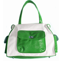 Preppy_green_and_white_bag