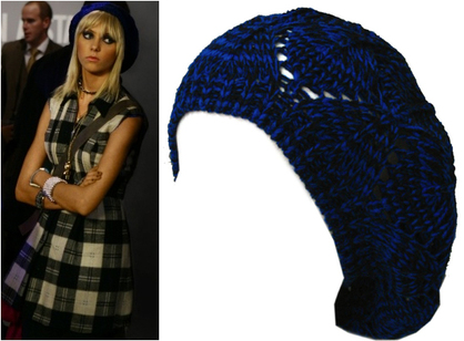 Fashiontribes.com Fashion Blog - Style, Beauty, Luxury Lifestyle & Shopping: A Bright Blue Beret for Your Inner Gossip Girl