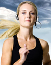 blonde blond Girl_jogging_working_out