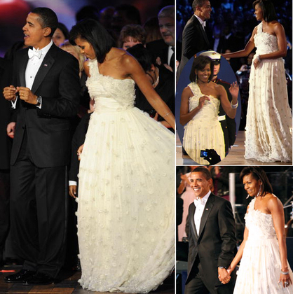 Michelle_obama_ivory winter white inauguration inaugural ball gown jason wu