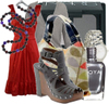 Red_dress_gray_grey_accessories_2