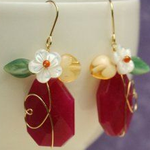 Red_floral_handmade_earrings