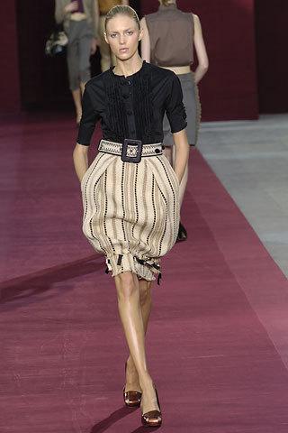 Yves Saint Laurent's High Waisted, deflated balloon skirt ...