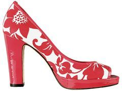 Fashiontribes.com: Red & White Floral Peeptoes from Delman for Strutting Your Stuff. FASHIONTRIBES FASHION & SHOE BLOG from fashiontribes.typepad.com