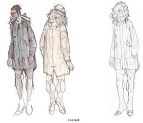 ... как рисовать эскизы одежды для мужчин.