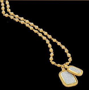 Cassis Gold Diamond Dogtags Now This is a Dogtag What With