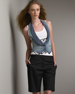 Karl_lagerfeld_denim_vest_and_knee_short