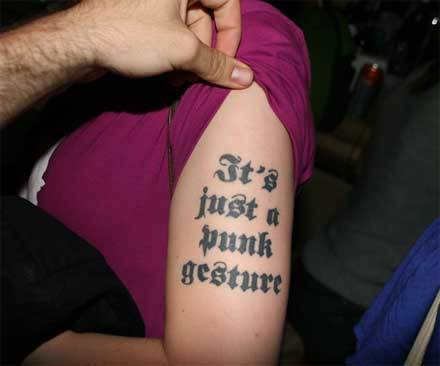 tattoo writing styles. The writing fits the phrase
