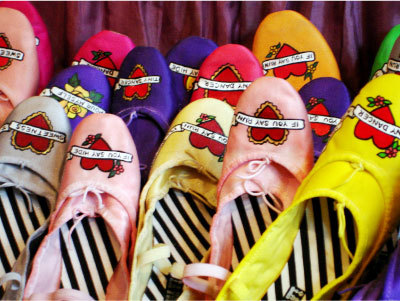 of Hand-Painted Tattoo Ballet Flats. FASHIONTRIBES FASHION & SHOE BLOG